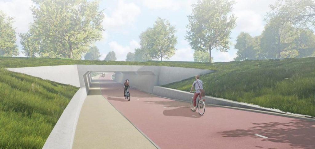 Circulaire fietstunnel Stappegoor